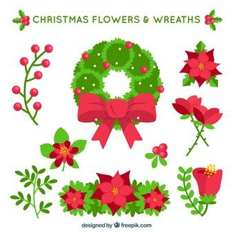 Pacote de Natal de decoração floral