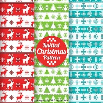 Pacote de padrões de Natal de ponto de cruz