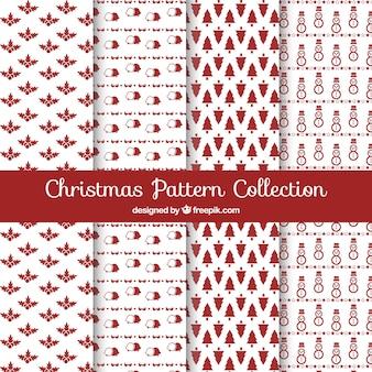 Pacote de padrões de natal vintage