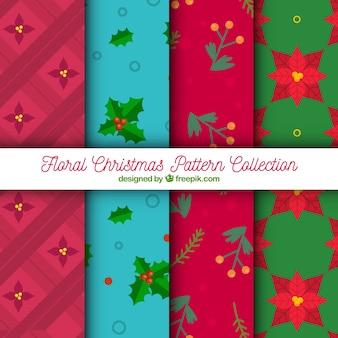 Pacote de padrões decorativos de Natal