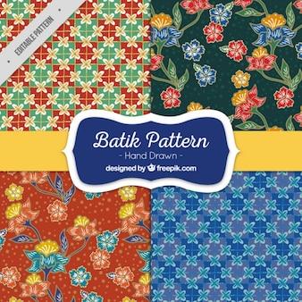 Pacote de padrões florais e abstratas