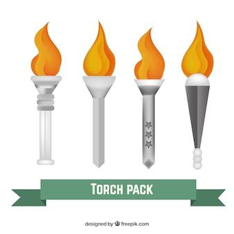 Pacote de prata torchs