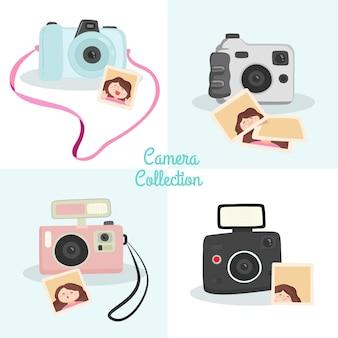Pacote de quatro câmeras polaroid