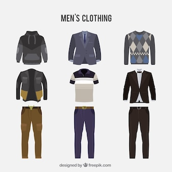 Pacote de roupas masculinas