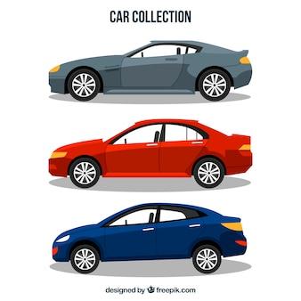Pacote de três carros desportivos