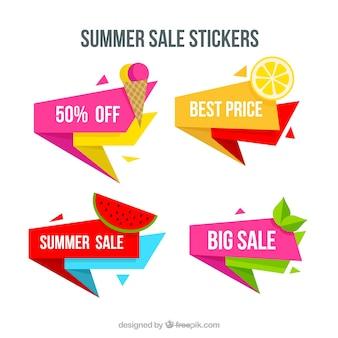 Pacote de venda do verão adesivos