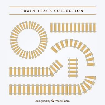 Pacote, decorativo, trem, trilhas