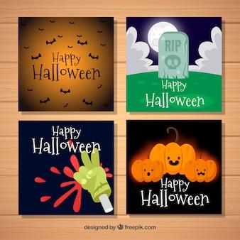 Pacote divertido de cartões de Halloween