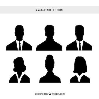 Pacote elegante de avatares empresariais