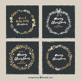 Pacote elegante de cartões de natal
