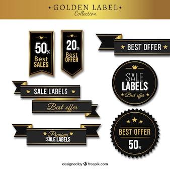 Pacote elegante de etiquetas elegantes