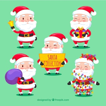 Pacote encantador de personagens de Papai Noel