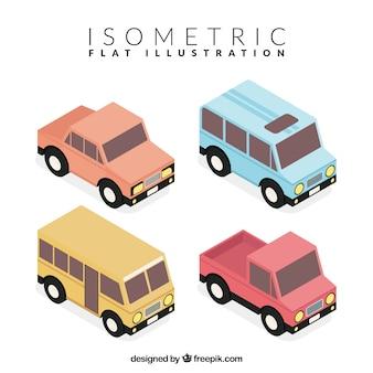 Pacote isométrica de veículos fantásticos