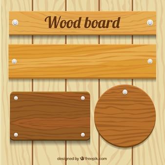 Pacote placa de madeira