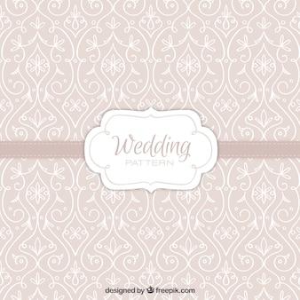 padrão bege com a mão tirada decoração floral para o casamento