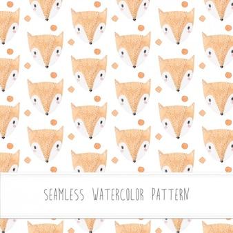 padrão de aquarela Foxes