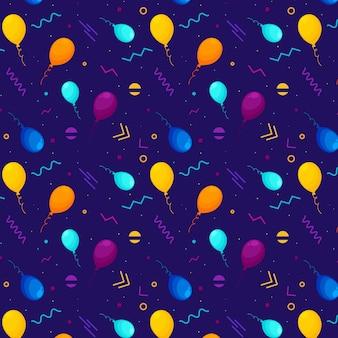 Padrão de balões e formas geométricas. Fundo de padrão dinâmico