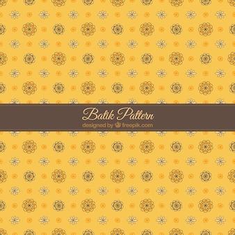 Padrão de batik amarelo