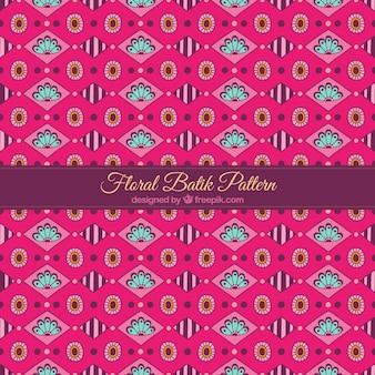 Padrão de batik formas geométricas