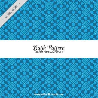 Padrão de batik geométrico azul
