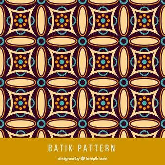 Padrão de batik geométrico Vintage