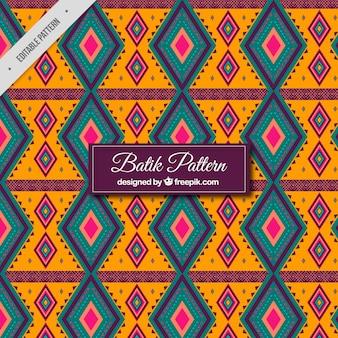 Padrão de batik geométrico