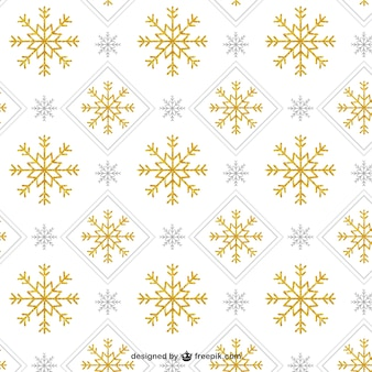Padrão de floco de neve de ouro