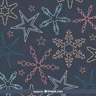 Padrão de flocos de neve coloridos