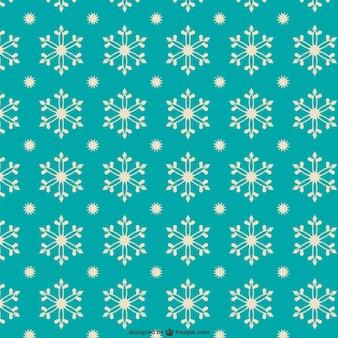 Padrão de flocos de neve estilo retro
