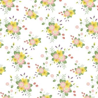 Padrão de flores do vintage da beleza. Fundo Shabby Vector