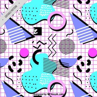 Padrão de formas geométricas coloridas moderna