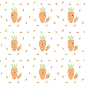 Padrão de fruta de cenoura sem costura