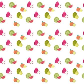 Padrão de fruta de melancia fofo e contínuo
