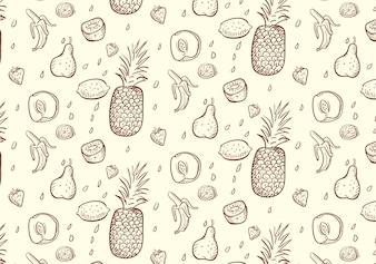 Padrão de frutas frescas