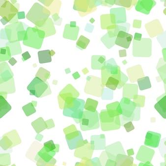 Padrão de fundo quadrado geométrico sem costura - ilustração vetorial de quadrados rotativos aleatórios com efeito de opacidade