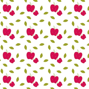 Padrão de maçã doce e sem costura