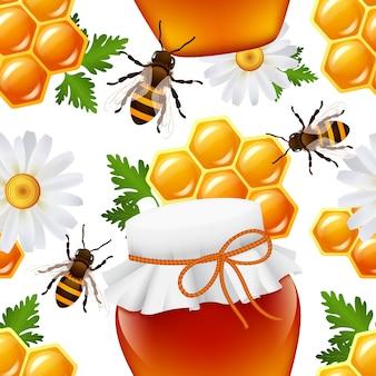 Padrão de mel sem costura