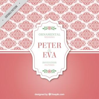 Padrão de rosa decorativa do casamento