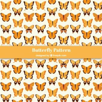 Padrão decorativo de borboleta
