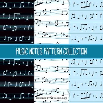 Padrões de notas musicais
