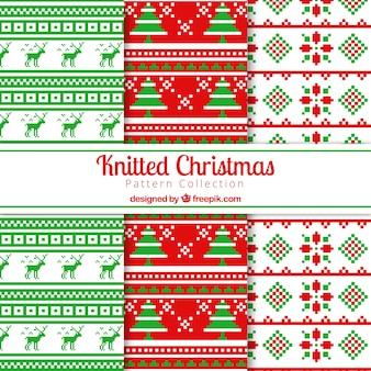 Padrões de pontos cruzados de Natal