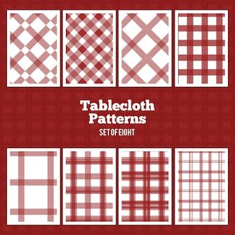 Padrões de vector de toalhas de mesa