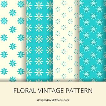 Padrões florais do vintage