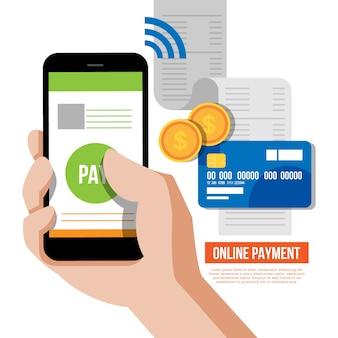 Pagamento em linha com smartphone