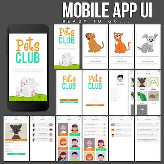 Página widget de aplicativo on-line corporativo