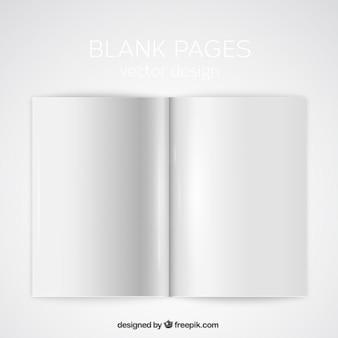 Páginas em branco maquete