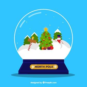 Paisagem de Natal em uma bola