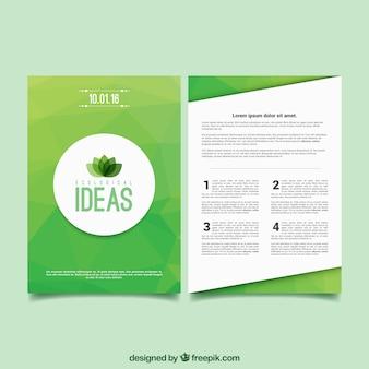Panfleto ecológico abstrato