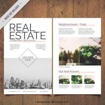 panfleto imobiliário com fotos