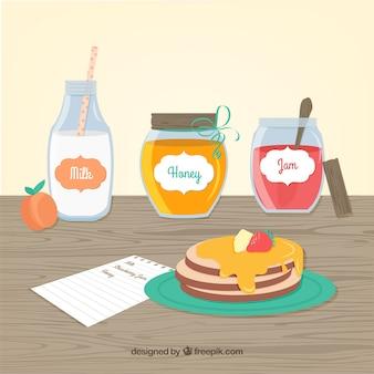 Panquecas pequeno-almoço